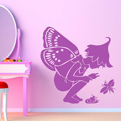 Fairy With Insects Wall Sticker Fairy Wall Decal Art