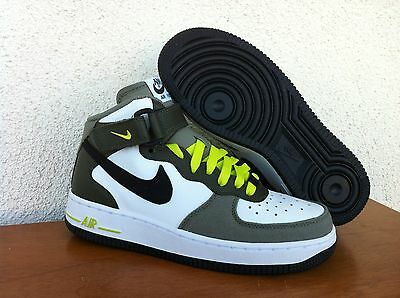 Nike Air Force 1 Youth Size Shoes White/Black-Cargo