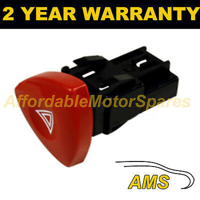For Vauxhall Opel Vivaro Nissan Primastar 2001- Hazard Warning Light Switch Red