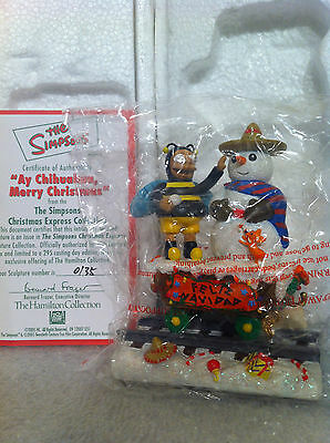 Simpsons Hamilton Sculpture Ay Chihuahua Merry Christmas Train Figure Rare B New