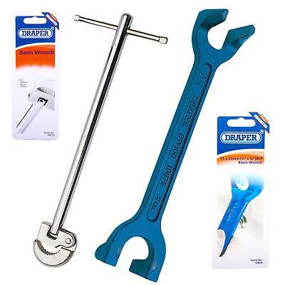 Draper Basin Wrench & Adjustable Tap Tool Nut Spanner Set Basin/Bath/Sink Unions