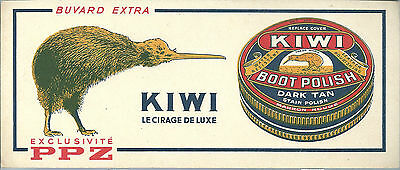 Buvard cirage Kiwi Boot polish PPZ oiseau bird