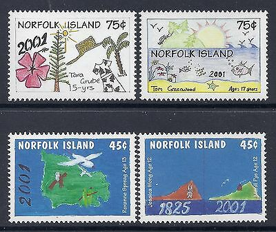 2000 Norfolk Island New Millenium Childrens Drawings Fine Mint Set Of 4 Mnh/muh