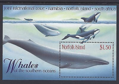 1998 Norfolk Island Whales Mini Sheet Joint Issue Fine Mint Mnh/muh