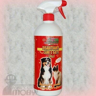 Disabituante Repellente Allontana Anti Cani Gatti Prodotto Naturale Spray 1 Lt.