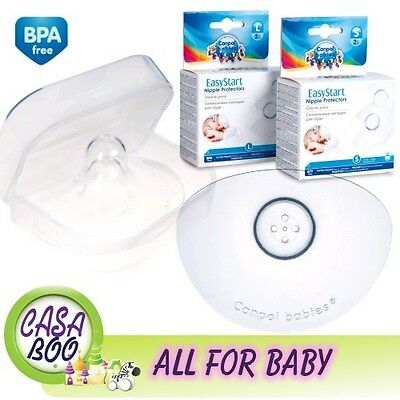 Canpol Silicone Nipple Protectors Easy Start 2pcs  BPA free Size: S,L