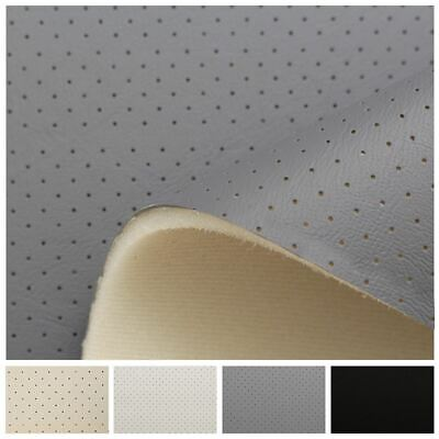 Perforated Caravan Car Boat Vehicle Headlining Scrim Foam Backed Leather Fabric