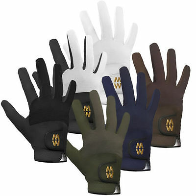 Riding Gloves Equestrian Professional MacWet Pair - ALL SIZES JUNIOR or ADULT