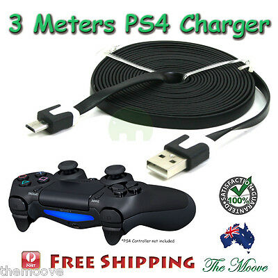 3M Charger Charging Cable Cord Sync USB power for PS4 PLAYSTATION 4 CONTROLLER
