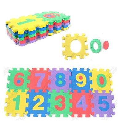 Number Letter Jigsaw EVA Puzzle Block Tile Floor Pad Mat Baby Kids Toy Play Game