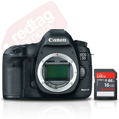 Canon EOS 5D Mark III Digital SLR Camera Body 22.3MP BRAND NEW + 16GB Card