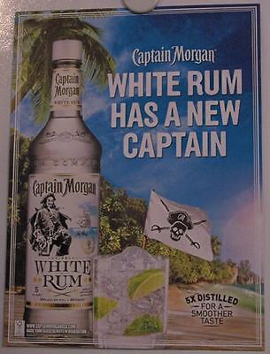 New Lot of 2 Store Display Paper Posters CAPTAIN MORGAN White Rum