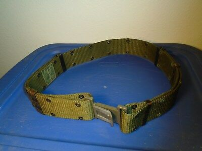 Us Military Army Navy Usaf Usmc Lc2 Green Pistol Utility Equipment Belt Large