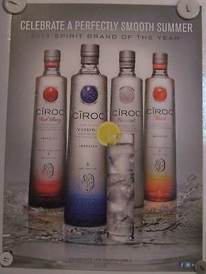 New Lot of 2 Store Display Paper Posters Ciroc Vodka 30 by 22