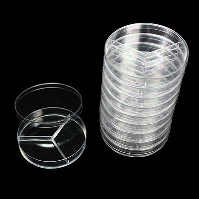A pack of  90x20mm 10X Sterile Plastic Petri Dishes Plate With Lid  LC210