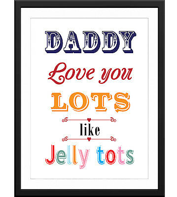 Inspirational Art Print Gift Present A3 A4 Size* FATHERS DAY QUOTE POSTER