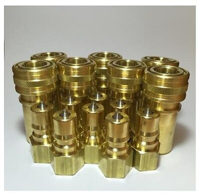 "Carpet Cleaning 1/4"" Quick Disconnect Coupler 8 Sets for Wand & Hose Truckmount"