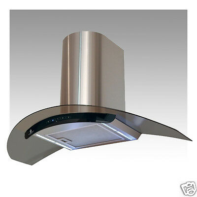 Designair Curved Glass Cooker Hood Cm