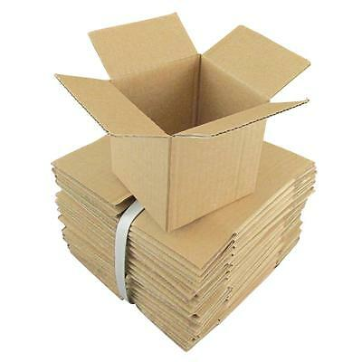 100 x Cardboard Boxes 100x100x100mm Brown Packaging Carton Mailing Box Strong