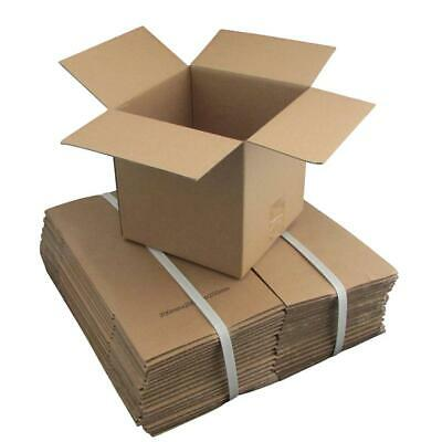 20 x Cardboard Boxes 200x200x200mm Brown Packaging Carton Mailing Box Strong