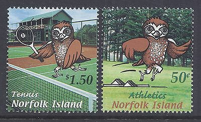 2002 Norfolk Island South Pacific Mini Games Fine Mint Set Of 2 Mnh/muh
