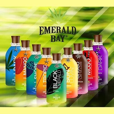 Emerald Bay Sunbed Tanning Accelerator Lotion Cream Collection +Plus Free Gifts