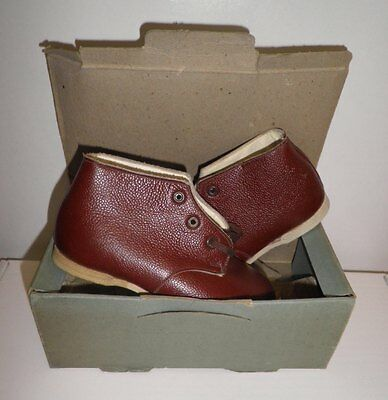 40s 'Kiltie' Original Tan Leather Little Boy/Girls Boots in the Original Box