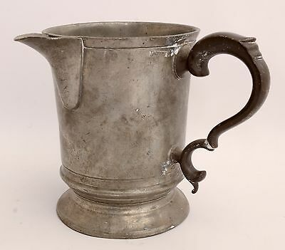 NICE ENGLISH PEWTER PINT MEASURE with SIDE POURING SPOUT Pint