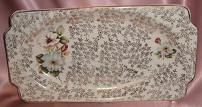 Estate Collectable ~ Old Wood & Sons Rose Oblong Dish ~ Vintage England