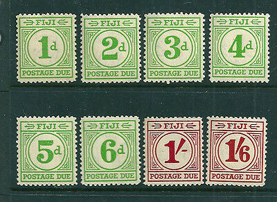 Fiji 1940 Postage Dues set of 8 mint lightly hinged