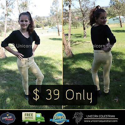 Jodhpur Breeches Kids Banana Riding Pants Size 4~14 Self Seat Knee Patch