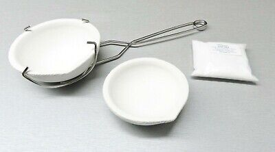 MELTING CRUCIBLE DISH SET KIT 2 CRUCIBLES WHIP HANDLE & BORAX - MELT GOLD SILVER