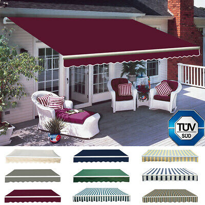 Garden Side Awning Sunshade Retractable Windscreen