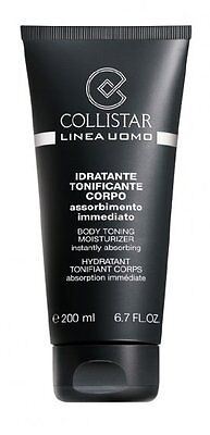 COLLISTAR crema idratante tonificante corpo assorbimento immediato uomo 200 ml
