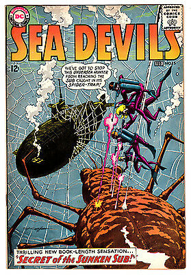 Sea Devils #15 6.5 Tan To Cream Pages Silver Age