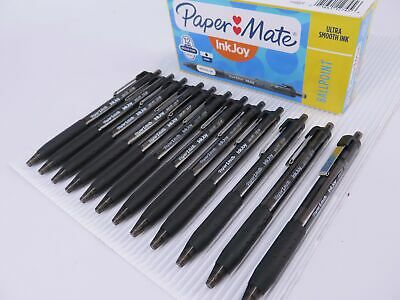12 x BLACK Papermate Inkjoy 300 Retractable Ballpoint Pen Medium 1.0mm 2008582