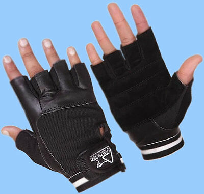 Austodex Weightlifting Gym Training Fitness Leather Gloves Slim Fiting Men Women