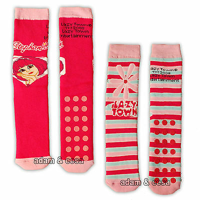 Girls Lazy Town Slipper Socks Grip 1 Pair or Lot of 4 Pink