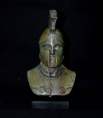 Leonidas King Of Spartans Bronze Bust -Battle of Thermopylae - Lost Wax Cast