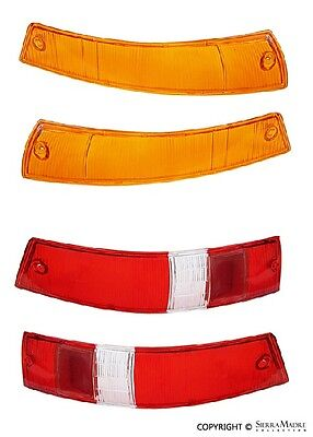 Turn Signal & Taillight Lens Set, US, Porsche 911/912 (65-68)