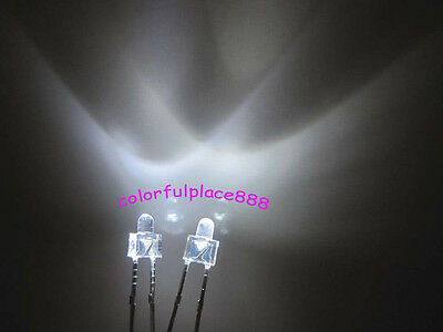 R for 12V 20pcs 2mm Warm White Round Top Water Clear 12000MCD LED Leds Light