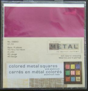 Walnut Hollow Coloured Aluminium Metal Squares for Crafting