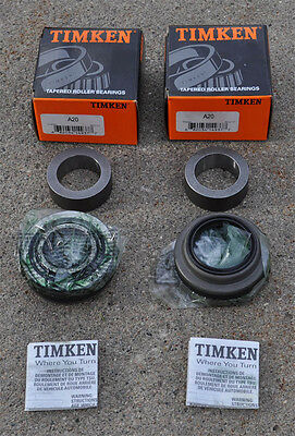 """(2) 1-Pair Timken A20 / Set20 Rear Axle Wheel Bearings A-20 NEW - 9"""" Inch Ford"""
