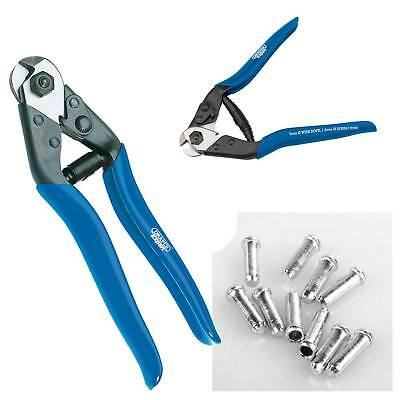 Draper Steel Wire Bike Brake Cable Cutter Cutting Plier Tool + 10 End Ferrules