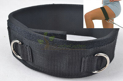 Durable Nylon Thigh Strap Strength Training Fitness Equipment Ankle Strap D-ring