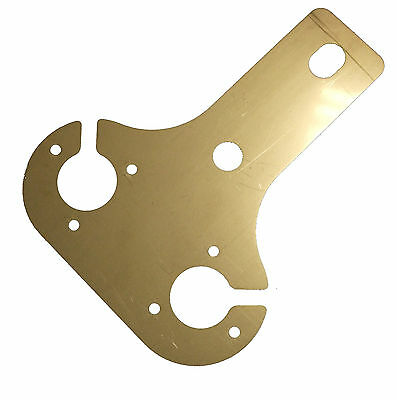 4mm STAINLESS STEEL  DOUBLE TOW BAR 7 PIN SOCKET MOUNTING PLATE