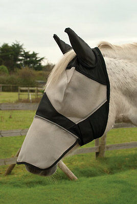 Rhinegold Fly Mask with Ears and Nose Coverage Horse/Pony Fly Protection - Full