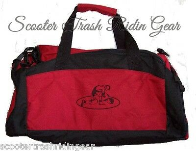 WRESTLING Wrestler RED duffel DUFFLE BAG personalized NEW - more colors