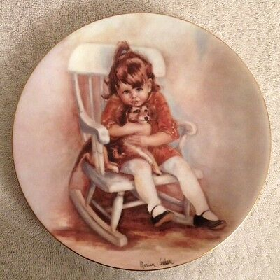 """Marian Carlsen """"AMY AND SNOOPY"""" Haviland Limoges Collector Plate 1977"""