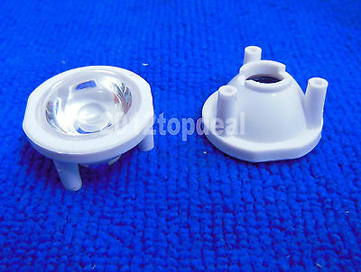 10pcs 120 Degree LED Lens with Three Pin Holder 120°for 1 3 5W led